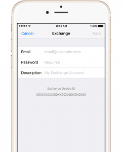 iphone 6 exchange setup