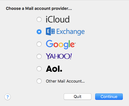 configure mac mail with exchange