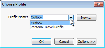 setting default email profile