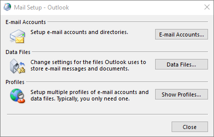 outlook mail profile