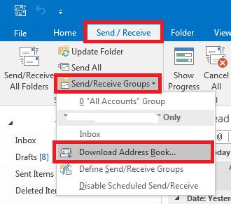 offline address book outlook