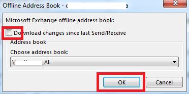 offline address book outlook GAL