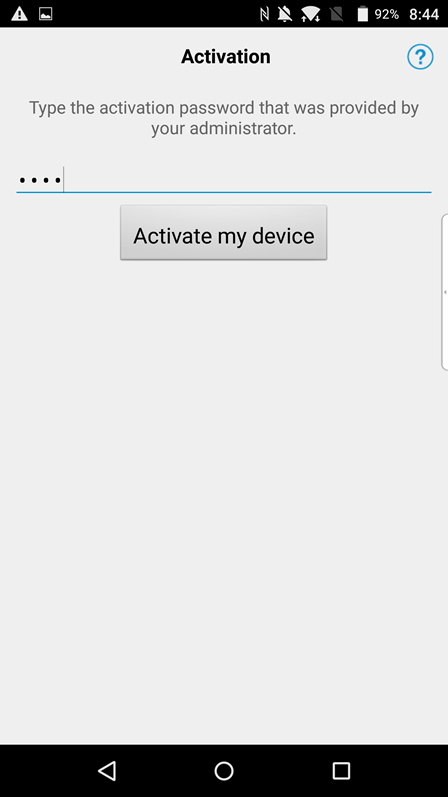 android for work activation