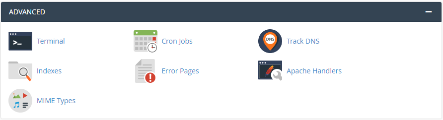 cpanel advanced features