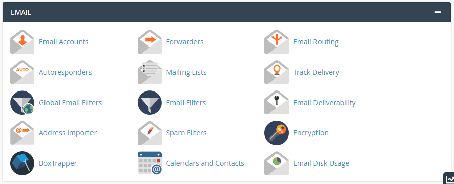 cpanel email features