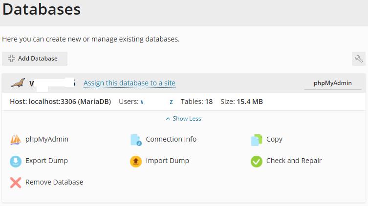 plesk databases